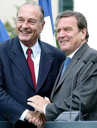 Chirac, Schröder