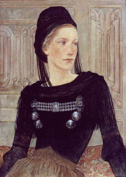 Junge Friesin, Gemälde von Wilhelm Petersen